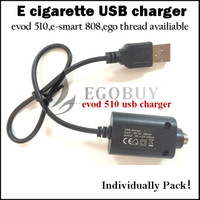 Wholesale G Battery Charger - Individually pack Usb charger evod 510 ego e smart 808D-1 thread chargers for evod twist ago e-smart 510 esmart 808 cf-vv g-power batteries