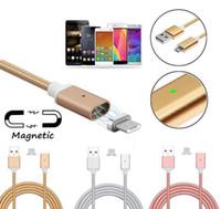 manyetik şarj adaptörü usb kablosu toptan satış-Yüksek Hızlı Manyetik Kablo Mikro USB Şarj Kablosu Data Sync Şarj Adaptörü Android Telefon Için Tip-c Smartphone Şarj Kablosu