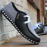 homens sapatos casuais coreano venda por atacado-Sapatos Casuais coreano Inglaterra moda Mens Fivela Respirável Sneakers de Fitness Esporte tênis de borracha Loafers