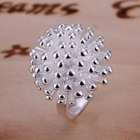 Wholesale Sterling Silver Fireworks Charm - wholesale hot sale high quality firework ring ,new men Women fine 925 sterling silver charm crystal jewelry 1 ring fashion jewelry CR001