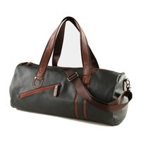 Wholesale Leather Luggage For Men - Wholesale-Men Soft Leather Travel Bag Fashion High-Capacity Sports Bag For Men Waterproof Shoulder Luggage