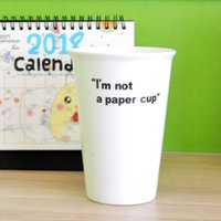 Wholesale High 15 Cm - 15 cm High Ceramic Mug Imitation Paper Custom White Breakfast Milk Coffee Cups Wholesale Creative Simulate Paper Porcelain Cup