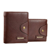 Wholesale Mens Passport Holder - Wholesale-2016 Brand Men Design Short Small Wallets Male Mens PU Leather Black Brown With Coin Pocket Card Holder Wallet Purse Carteras
