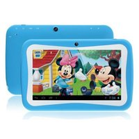 Wholesale Cheapest Kids Tablets - Cheapest Kids Tablets 7 inch Android 5.0 kids tablet pc RK3126 Quad core Bluetooth 512MB RAM 8GB ROM Kids Games & Apps Best gifts for kids