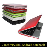 8GB 7inch Mini laptop Android notebook VIA8880 Dual Core Android 4.2 Wifi Netbook Laptop 512MB 1.5GHz + Webcam HDMI 20pc