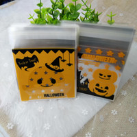 Wholesale Pumpkin Soap - SF_Express 100pcs lot Halloween pumpkin packing bags 7 wire for soaps packing square 10*10*3 cm factory price