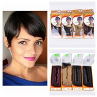 Wholesale 4inch Weaving Hair - Straight 27pcs Malaysian Human Hair weave with free closure and free cap 4inch 99j Dark Red Color Free Shippment