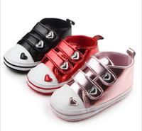 Wholesale Korean Baby Love - Wholesale Love Princess toddler shoes!11 12 13 cm baby shoes,non-slip cheap kids shoes,Korean soft girls single shoes!9pairs 18pcs.ZH