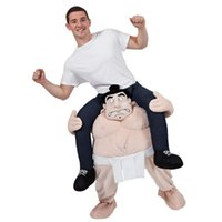 Wholesale stag costumes for sale - Cartoon characters Funny Wacky pants Stuffed Ride On Me Stag Mascot Carry Piggyback Fancy Dress Costume Funny Wacky pants