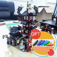 Wholesale Toy 737 - New bricks 06022 Temple of Airjitzu 737 pcs Set Compatible with for Kids Building MINI Version OF 06022 Toys lepin