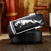 2017Famous Brand <b>belt jaguar</b> British Fashion Men Cinto de fivela lisa Leather Luxury Man designer de alta qualidade business cinturones cintos