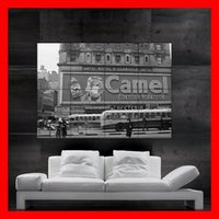 Wholesale Camel Cigarettes - Camel cigarettes 1932 in new york Poster print wall art 8 parts Poster print art huge picture photo free shipping No366