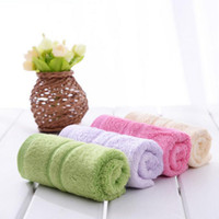 Wholesale Beach Towels Beige - 26cmx48cm New 100% Bamboo fiber face Hand Towel Absorbent Microfiber Drying Bath Beach Towel Washcloth Swimwear Shower