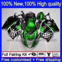 Wholesale 1996 Hayabusa - Body Bodywork For SUZUKI Green black Hayabusa GSXR1300 96 07 GSX R1300 15XH00 GSXR-1300 GSXR 1300 1996 1997 1998 1999 2000 2001 Fairing kit