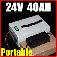 Wholesale Electric Bicycle Battery 24v - 24V 40AH Lithium Battery ,multifunction 29.4V hand Portable RC Solar energy E-bike Electric Bicycle Scooter battery