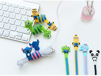 Wholesale Wholesale Computer Cables Organizer - 2016 new Computer Accessories Kawaii Cartoon Animal Long Cable Winder Headphone Earphone Organizer Wire Holder free shipping