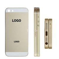 boîtier de batterie iphone 5s achat en gros de-Couvercle de la batterie de porte OEM avec porte-carte SIM + bouton de volume + bouton d'alimentation de remplacement pour Apple iphone 5 5S 5G 1pcs / Lot
