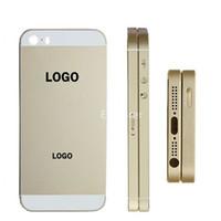 ingrosso sostituzione del coperchio posteriore di iphone 5s-Custodia Cover posteriore OEM Porta batteria con vassoio scheda SIM + pulsante volume + pulsante di accensione Ricambio per Apple iphone 5 5S 5G 1 pz / lotto