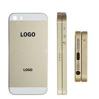 iphone 5s arka gövde toptan satış-OEM Arka Kapak Konut Pil Kapı SIM kart tepsisi ile + ses düğmesi + güç düğmesi Değiştirme Apple iphone 5 5 S 5G 1 adet / grup