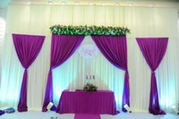 Wholesale Nice Wall Designs - Competitive Factory Price Wall Decoration Newest Nice Design Wedding Drape Backdrop Stage for Bridal Wedding Events