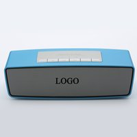 Wholesale Altavoz Subwoofer - Altavoz Bluetooth Speaker With LOGO Stereo Audio Receiver Mini Wireless Enceinte Subwoofer Loudspeakers Support TF Card FM