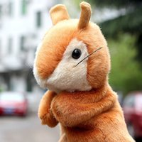 Baby Plush Puppet Hand Puppet Dolls Cute Squirrel Doll Toys Presentes de Natal para Baby Kids Doll