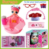 Wholesale Toy Rubber Eggs - Kitoz LOL Surprise Doll Series 2 Girl Baby Sisters Friends Ball Egg 7 Layers Fun Unpack Magic Surpresa Toy Feed Bottle For Kid