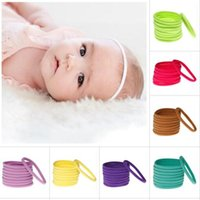 Wholesale Yellow Headbands For Children - Fashion Baby Traceless Elastic band For DIY Headbands Hairbands Children Kids Hair DIY use Girls seamless Hair Accessories 22 Colors