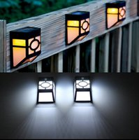 Wholesale Led Wall Mount Pathway Lighting - Solar Powered Wall Mount LED Light Outdoor Path Yard Garden Fence Landscape Lamp LED Light Pathway Lights 20pcs OOA3135