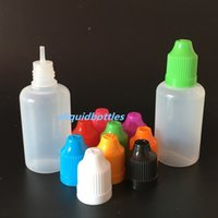 Wholesale 1oz Plastic Dropper Bottle - 1OZ E Liquid bottles E-Cigarette PE Needle Tips Plastic Dropper Bottle 30ml Child Proof Caps Empty E-Liquid Oil Bottles