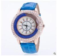 Wholesale Ladies Elegant Belts - Women rhinestone diamonds watches ladies luxury fashion elegant quartz Watch pu leather Wristwatches Birthday gifts Accessories hot sale