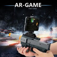 Wholesale Bluetooth Toys - AR-GUN VR Game Augmented Reality Shooting Games Smart Phones Bluetooth Control Toy Gun Short Style CCA8285 10pcs