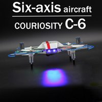 Wholesale Aircraft C - Zorn toys-rc plane Curiosity C-6 Six-axis aircraft Remote control aircraft , professional toy drones 2.4GHz(720P HD video recording)