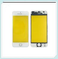iphone 5s bezel değiştirme toptan satış-2 in 1 Soğuk Pres Ön Cam Lens + Orta Çerçeve Çerçeve Değiştirme Için iPhone 5 S 5C 5G Dokunmatik Ekran Paneli Dış Cam Ücretsiz Kargo