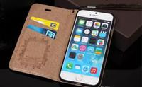 iphone 5s lüks flip durumlarda toptan satış-Sıcak Satış Moda Lüks Asil Cüzdan Deri Flip Kılıfları iPhone 8X7 6 6 s 6 Artı 5 s SE Galaxy S8 S8Plus S7 S6 kenar TPU Kapak