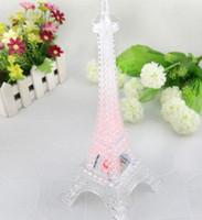 led eiffel kuleleri toptan satış-Renkli Eyfel Kulesi Nightlight Paris Tarzı Dekorasyon LED Lamba Moda Danışma Yatak Odası Akrilik Işık 50 adet / grup