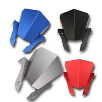 üst kertenkele toptan satış-Yamaha MT-07 MT07 14-16 için 4 Renk Üst Far Üst Kapak Paneli Fairing