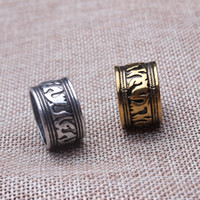 Wholesale Per Dozen - 2016 new tetom male finger ring boho style antique silver   gold plated usa size 8 1 dozen(12 pcs) per lot