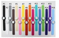 Wholesale Silicone Bag Watch - 200pcs free shipping High Quality silicone slap watch, kids slap watch children watches 16 kinds of color opp bag packaging