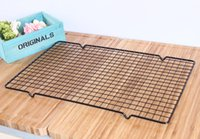 Wholesale Cooler Racks - High Quality Cake Cooler Black Rectangular Metal Mesh Nonstick Cake Cooling Rack Net For Cookies Pies And Cakes Baking Rack