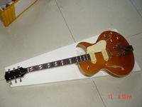 Wholesale Hollow Body Goldtop - Free Shipping Goldtop, P90 pickups, F hole hollow electric guitar jazz guitar
