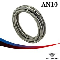 "Wholesale Racing Fuel Hose - PQY RACING AN10 10AN (14.2MM   9 16"" ID) STAINLESS STEEL BRAIDED FUEL OIL WATER HOSE 5 METER PQY7114"