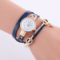 Mode Braided Long Strap Leather Watch Wrap Quartz Wrap Quartz Weave Watch pour Femmes Grossiste Montre-bracelet 9 Couleurs