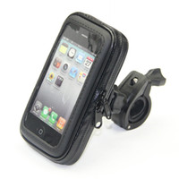 Wholesale Phone Pouch Case Bike - Wholesale-Bike Bag Bicycle Waterproof Bag Phone Case Pouch Handlebar Mount Holder For iPhone 5 6 6 PLUS