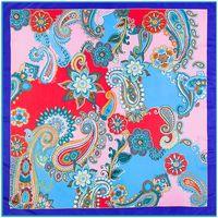 Wholesale Silk For Scarfs China - Newest China 100% Silk Scarf Square 100cm Pashmina Shawls Sets For Lady Luxury Brand Scarves Bohemia Style Silk Wraps Paisley
