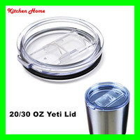 plastic transparent color  Plastic AS Spill Proof Lids For YETI Mugs Leak Proof Spillproof Covers For Yeti 30 20 OZ Tumbler Ramblers Bilayer Cooler Cups