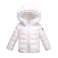 Wholesale Girls Puffer Down - 2016 Zmario Winter New style Children's Down Coats Girls Lightweight Outwear Hooded Puffer Coat Down Jackets