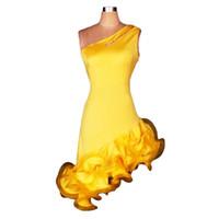 Wholesale Dresses Latin Salsa Ballroom - 2017 Women Latin Dress for Ballroom Dancing Latin Jurk Clothes for Salsa Rumba Tenue Danse Adulte Grande Taille 0040