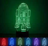Wholesale Warship Toys - 3D Cartoon Warship LED Night Light Man Art Fashion Lamp 7 Colorful Change USB Charger Desk Christmas Gift Kids' Cartoon Toy Min Order1PCS