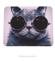 Rubber black cat mouse pads - 2016 HOT Selling Cat Picture Anti Slip Laptop PC Mice Pad Mat Mousepad For Optical Laser Mouse Promotion